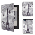 Flip Stand Magnetic PU Leather Case for 2016 New Kobo Aura Edition 2 6'' Ereader + Screen Protector Film + Stylus