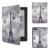 Soporte del tirón de Cuero Magnética de LA PU Caso para 2016 Nuevo Kobo aura edición 2 6 ''ereader + film protector de pantalla + Stylus