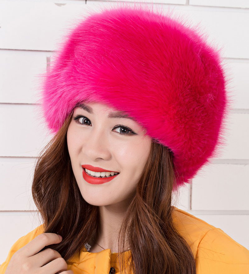 c6152fdef7b 2015 NEW Hot Sale 10 color Faux Fur Headband Ear Warmer Winter Ski Hat Band  Head Earmuff Women s Hat-in Skullies   Beanies from Apparel Accessories on  ...