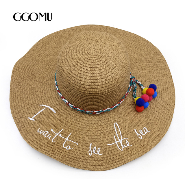 dropshipping Hot sale Summer Floppy Straw Hats Casual Vacation Travel Wide  Brimmed Sun Hats Foldable Beach Hats For Women 3202d2cd848