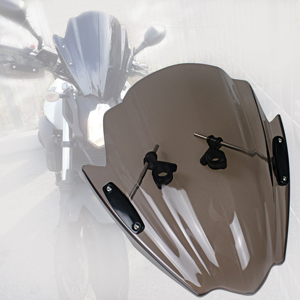 "Conjunto De 1 Moto Universal Para-brisa Para-brisas Mount Guidão 7//8/"" 1/"" 1 1//8/"""