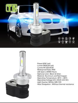 Led T5 Bulb | 1 Set D1S D2S D3S D4S Turbine T5 LED Headlight Headlamps 60W 9600LM CSP Chips All-in-one Super White 6000K Driving Fog Car Bulb