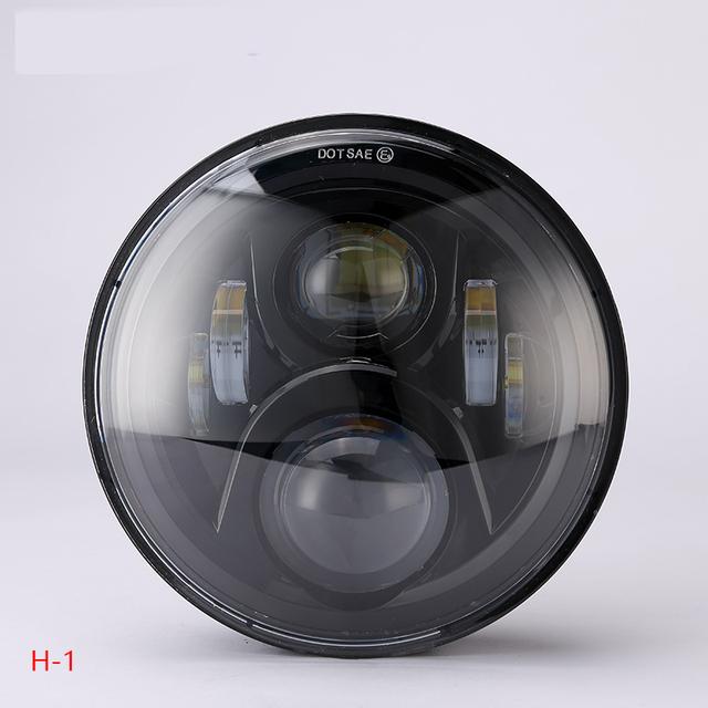 """for honda hornet 900 hornet 600 led headlight 7"""" 75w chrom/ black motorcycle headlight for honda vtr 250 honda vtec"""
