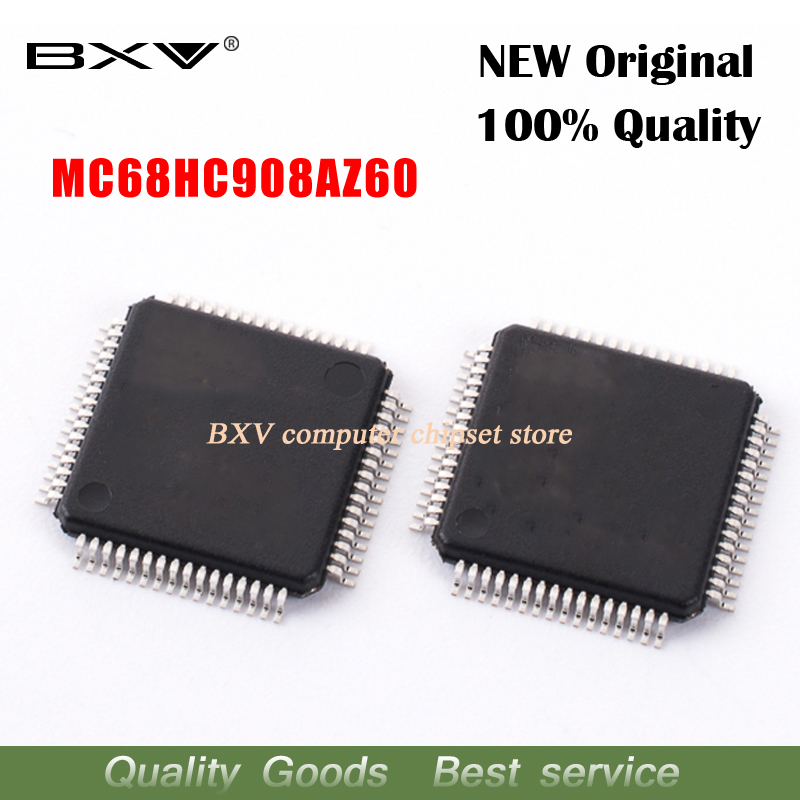 2pcs 100% New MC68HC908AZ60CFU 2J74Y MC68HC908AZ60 QFP-64 Chipset2pcs 100% New MC68HC908AZ60CFU 2J74Y MC68HC908AZ60 QFP-64 Chipset