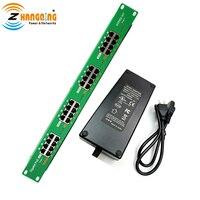 WT AT 16 56v120w 16 Порты и разъёмы Инжектор PoE Active гигабитный PoE Панель с 56 Вольт 120 Вт питания для 802.3af/at устройств