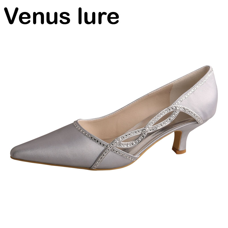 Us 39 09 15 Off Venus Lure 21 Colors Womens Shoes Silver Low Heels Pointed Toe Party Evening Shoes In Women S Pumps From Shoes On Aliexpress