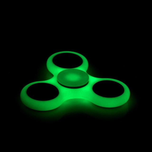 SıCAK Aydınlatma Beyaz Tri-Spinner Fidget Oyuncak ABS Plastik EDC El Otizm ve DEHB Için Spinner Rotasyon Uzun Süre Stres Giderici oyuncaklar