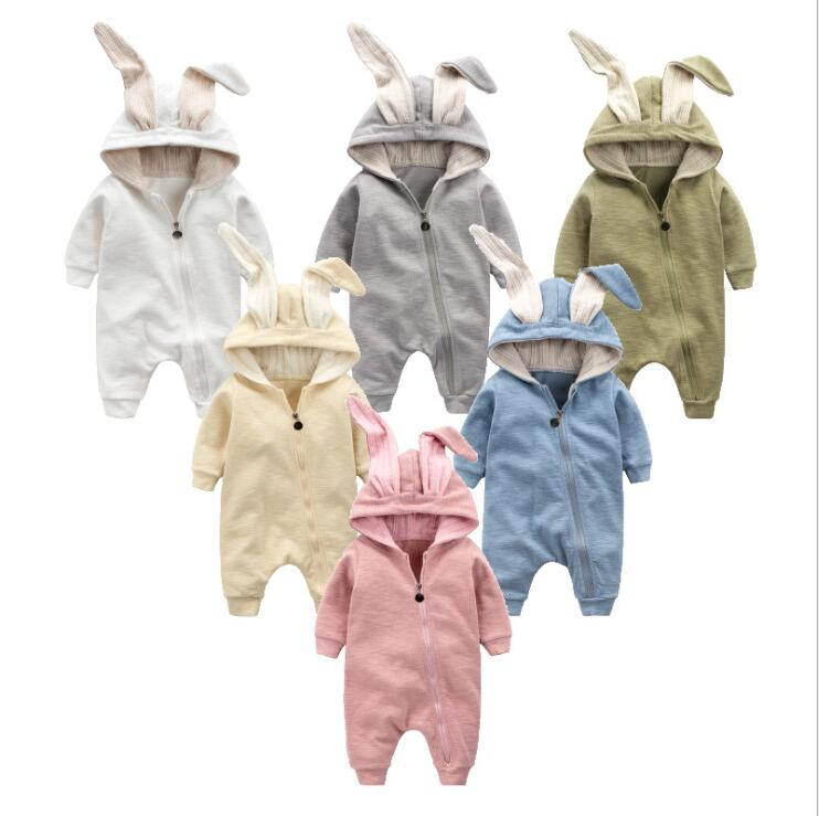 Baby Clothing Bunny Rompers Newborns Body Suit Kids Clothes Boy Girl Jumpsuit Rabbit Baby Romper Hooded Warm Cotton Overall