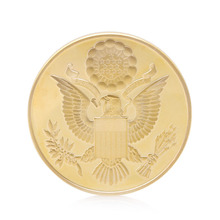 Gold Plated Annuit Coeptis Physical Challenge Gift Commemorative Coin Collection H06