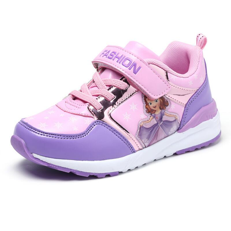 Autumn New Kids Shoes For Girl Sneakers Slippers Tenis Infant Children Sneakers Pink Cartoon Shape Love Baby Shoe Size 3 14years in Sneakers from Mother Kids