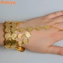 سوار معصم ذهبي اللون بتصميم عربُي لعملة أيونيو للنساء سوار إسلامي أصلي مجوهرات الشرق الأوسط هدايا زفاف إثيوبية #068206