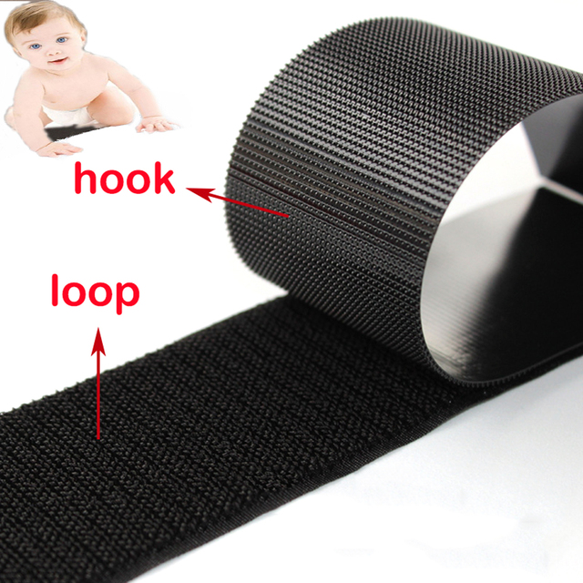 1Meter/Pair Soft Baby Loops and Hooks fastener Tape Velcros Safe Baby DIY Supplies fastener Magic tape for Sewing-on Accessories