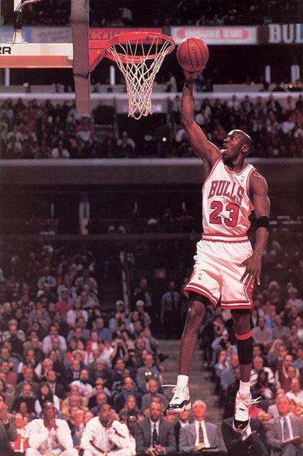 16952 Michael Jordan Slam Dunk NBA Wall Sticker Art Poster