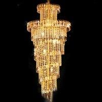 Classic Silver Crystal Chandelier Light Lamp Lighting Fixture Gold Color Light For Restaurant Hotel Lobby Foyer