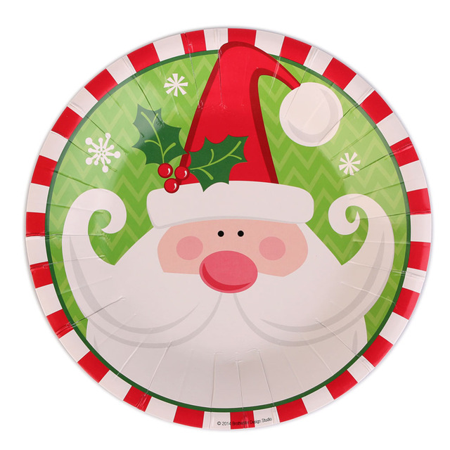 20pcs Christmas Paper Plate Dishes Cake Dish Santa Claus/ Snowman Birthday Party Decor Supplies Paper  sc 1 st  AliExpress.com & 20pcs Christmas Paper Plate Dishes Cake Dish Santa Claus/ Snowman ...