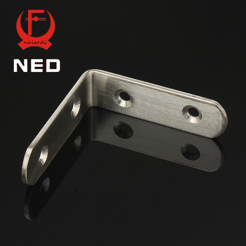 NED 10pcs 65x65x20mm Practical Stainless Steel Corner Brackets Joint Fastening Right Angle 2.5MM Thickened Bracket For Furniture 10pcs lot stainless steel flat corner brace fixed angle plate connector repair bracket 38mm 15 6mm thickness 1 73mm k160