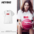Youth Streetwear Japanese Fashion Skateboard T-shirts Classic Red Box Print White Tee HEYBIG hiphop Men Shirts Chinese Size!