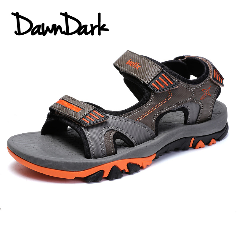 Men Sandals Summer Slip on Walking Sandals for Man Fashion Brand Outdoor Male Casual Flat Soft Leather Shoes