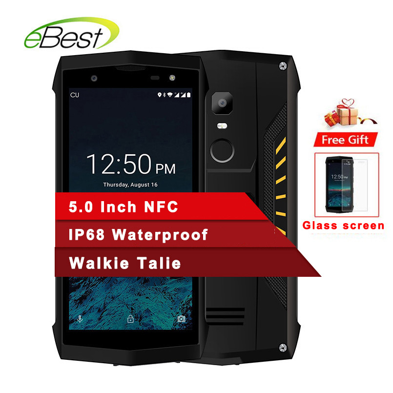 Poptel P8 Ip68 Waterproof Rugged Smartphone 5 0 Inch 3750mah 2gb 16gb 8mp Mtk6739 Face Id Nfc Walkie Talkie Android Cell Phone