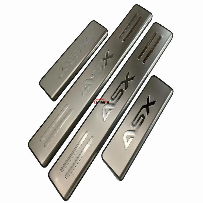 Türschwellenverkleidung aus Edelstahl Verschleißplattenschutz Autozubehör für Mitsubishi ASX 2011 2013 2017 2018 Auto-Styling-Aufkleber