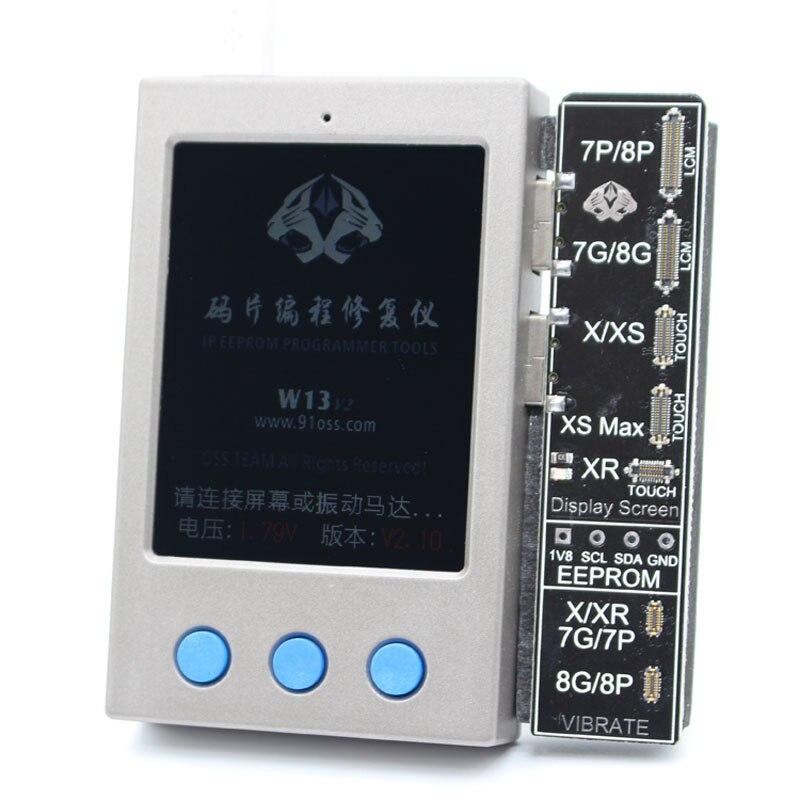 W13 LCD capteur de lumière ambiante vibrateur réparation IP affichage EEPROM programmeur pour iPhone 7-XS/XSM XR