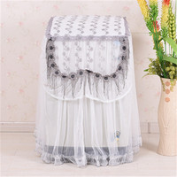 lace Washing Machine Cover Flower Pattern Thicker Durable Washing Machine Dust Covers 2 Size