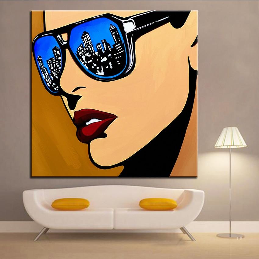 Velkoplošný tisk Olejomalba Nástěnná malba Městská vize POP Art Wall Umělecká obrazová malba Obývací pokoj No Frame