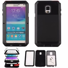 Водонепроницаемый противоударный алюминиевый металлический жесткий чехол для Samsung Galaxy Note 4 5 Note4 Note5 с Gorilla закаленное стекло