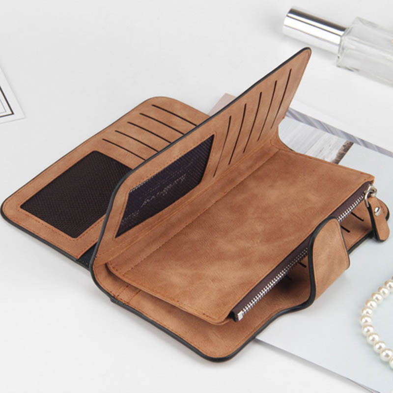 Baellerry Leather Women Wallets Coin Pocket Hasp Card Holder Money Bags Casual Long Ladies Clutch Phone Wallet Women Purse W195 in Wallets from Luggage Bags