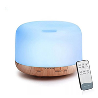 500ML Ultrasonic Air Humidifier Aroma Diffuser With Remote Control Aromatherapy Diffusers Ultrasonic Cool Mist Humidifier Fogger