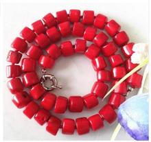 Women Gift jewelry choker anime gem chocker maxi collier Charming! Natural Red Sea Coral Necklace