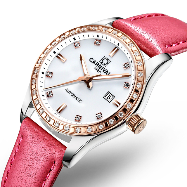 Switzerland Carnival Women Watches Luxury Brand ladies Automatic Mechanical Watch Women Waterproof relogio feminino 8685L-8