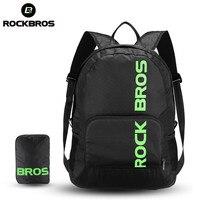 ROCKBROS Sports Backpack Male Female Cycling Camping Backpack Waterproof Portable Foldable Hiking Bike Bicycle Backpack Black
