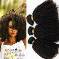 Grade 7A Mongolian Afro Kinky Curly Virgin Hair 3 pcs lot Cheap Unprocessed Virgin Mongolian Hair Bundles Afro Curly Hair Weave