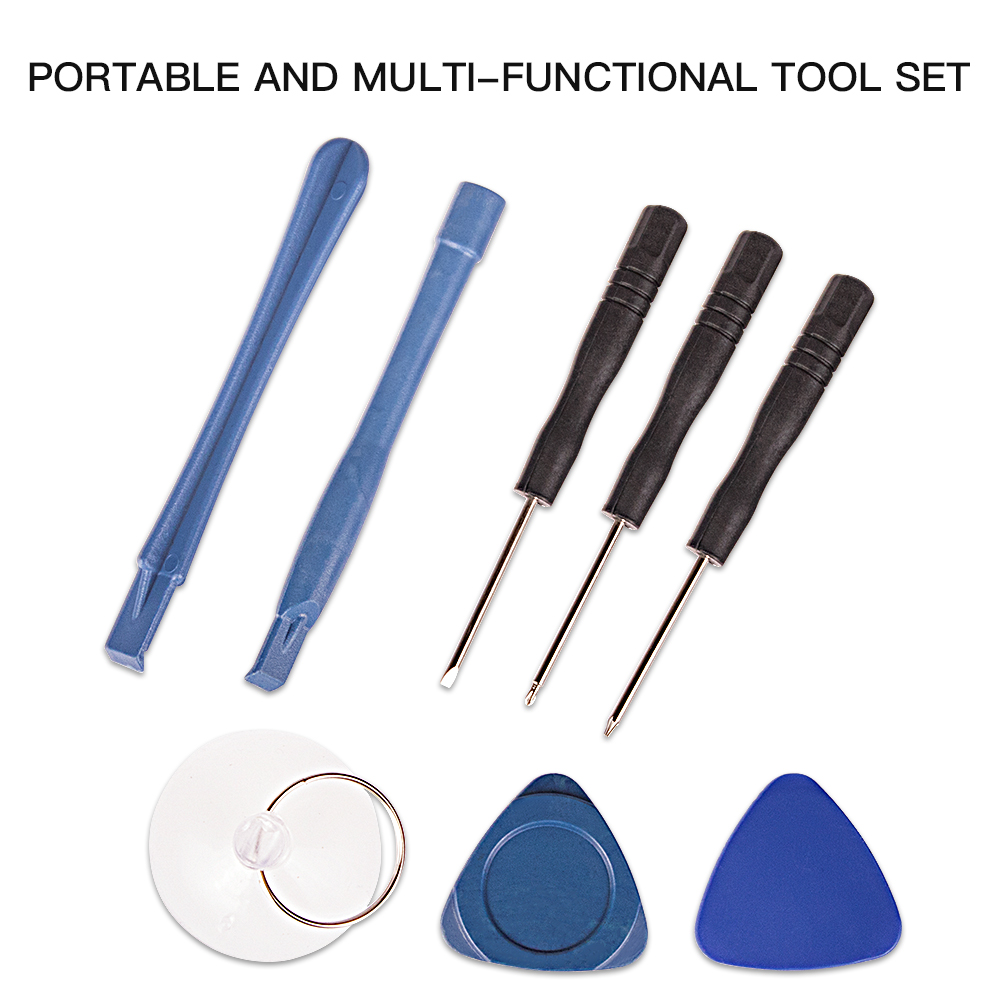 Professional 8 in 1 Cell Phones Opening Pry Repair Tool Kits Smartphone Screwdrivers Tool Set For Mobile Phone(China)