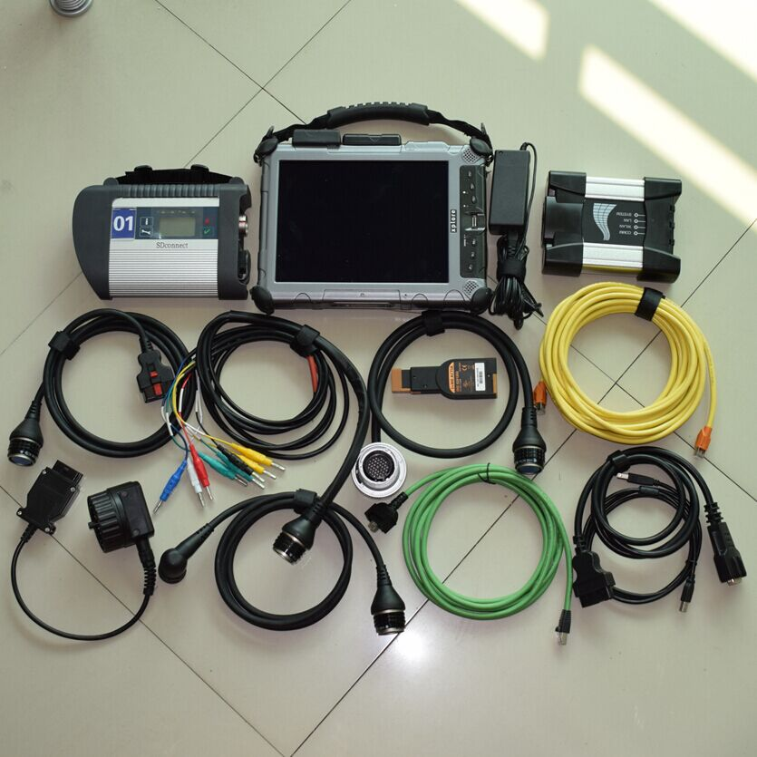 mb star c4 for bmw icom next 2 ssd latest software with laptop Xplore ix104 c5 tablet(I7&4g)MB Star diagnostic tool ready to us