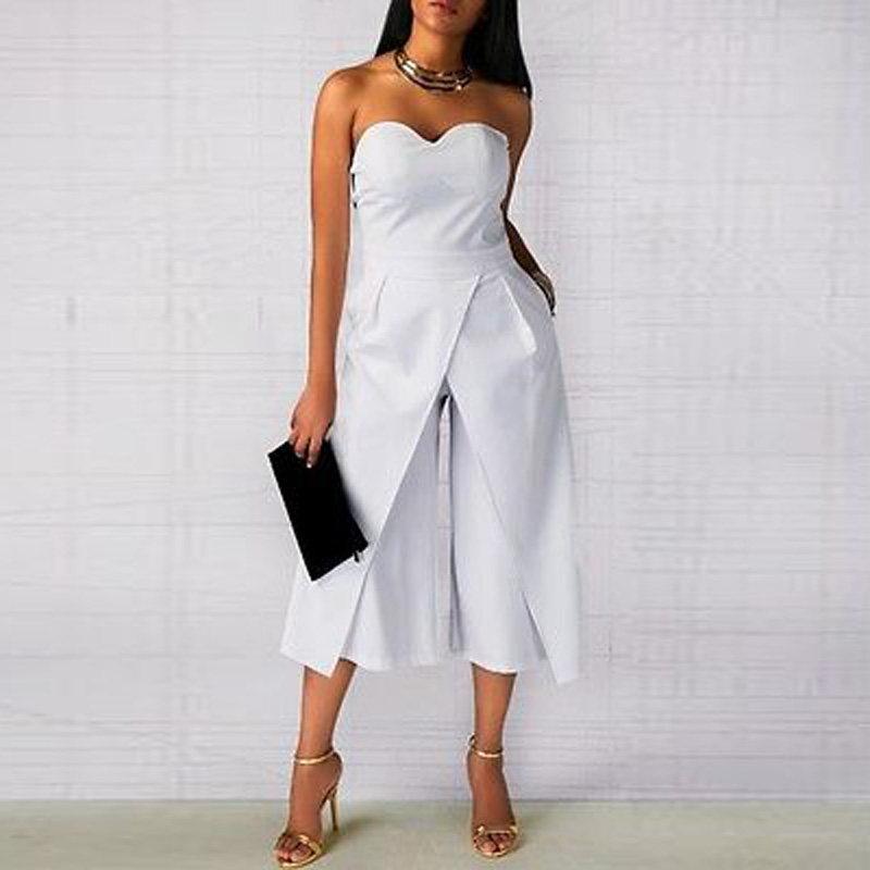 d848f0ec071d Summer Women Rompers Ladies Sexy Clothes off shoulder One piece pants  Elegant Black White Office Work