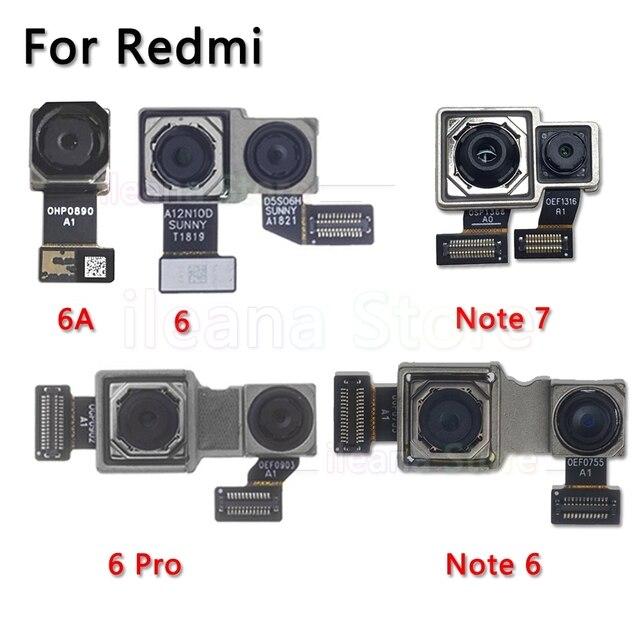 Oryginalna tylna kamera dla Xiao mi mi czerwony mi uwaga 6 6A 7 Pro powrót główny przewód do aparatu kabel