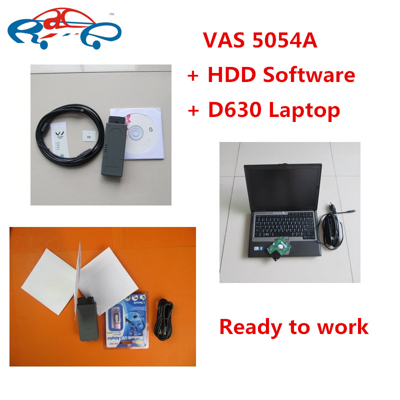 High quality vas5054a oki Full Chip software ODIS v4.4.1 vas 5054 + d630 laptop Bluetooth vas5054a with OKI odis engineer v8.1.3