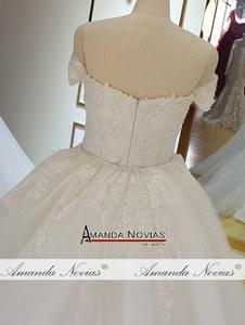 Image 4 - Off the shoulder straps plus size mermaid wedding dress with detachable train