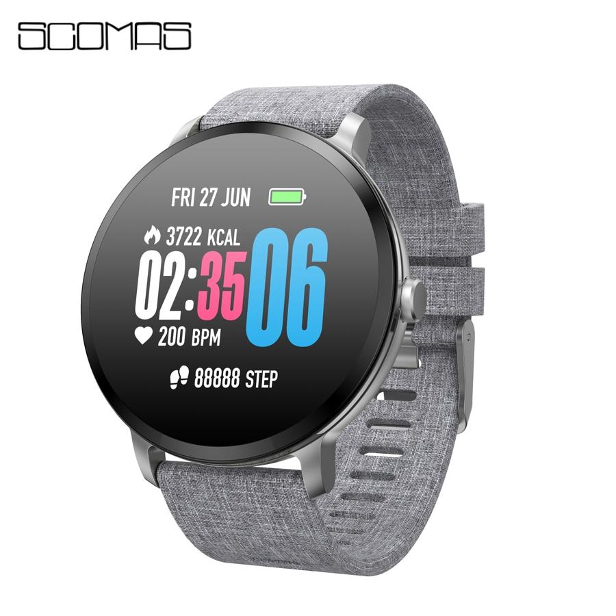SCOMAS V11 Smart Watch 1 3 IPS Tempered Glass IP67 Waterproof BRIM Heart Rate Monitor Activity