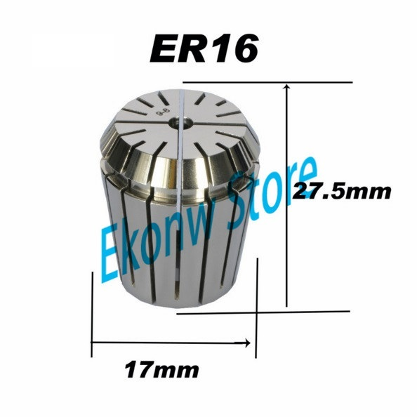 Free Shipping 1-10mm ER ER16 Collet Chuck for Spindle Motor Engraving/Grinding/Milling/Boring/Drilling/Tapping