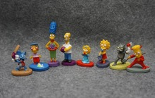 8pcs/set The Simpsons Collection Figure toys Cake Decoration Children Toys PVC Action Figure Collection Model