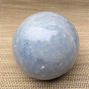 Piedras curativas con esfera de cristal Celestina azul cielo natural para decoración del hogar