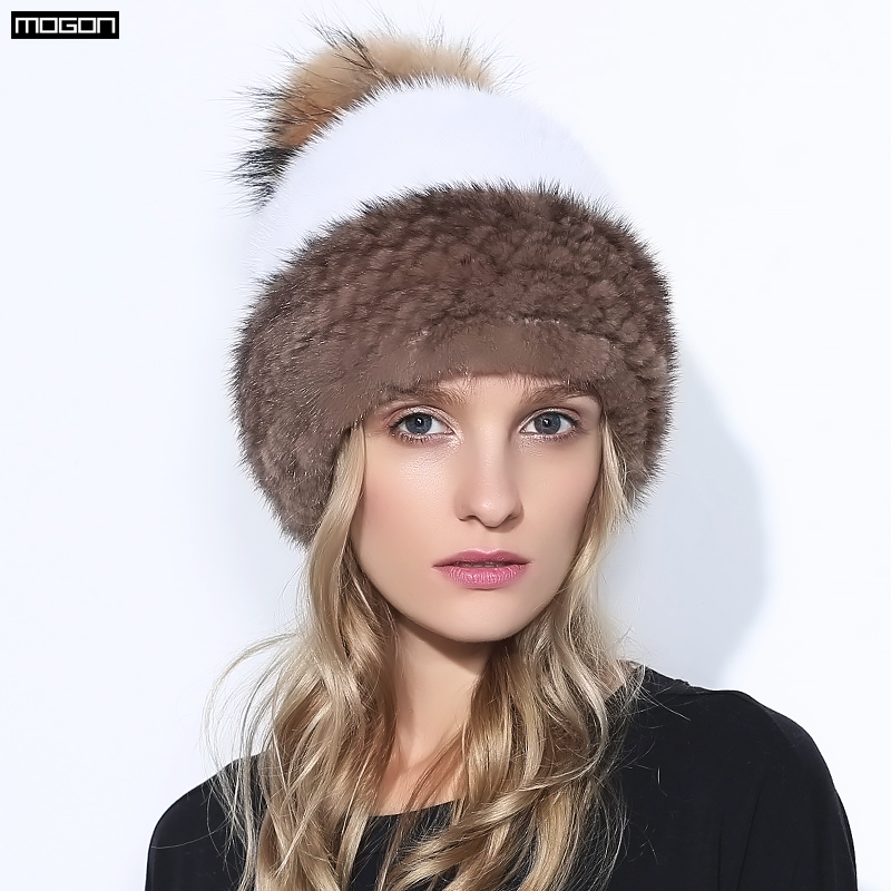 2018 Nuova Vendita Visone Inverno Cappello di Pelliccia Per Le Donne Genuino Ananas naturale Cap Russo Berretti Modo di Buona Qualità Spessore Caldo cappelli
