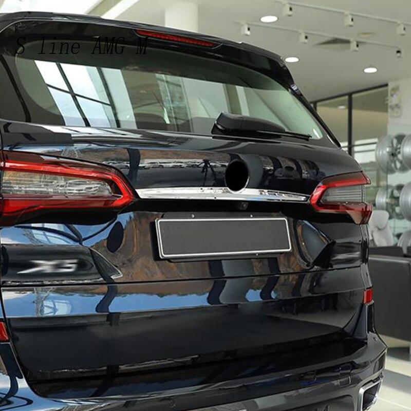 Style de voiture pour BMW X5 G05 2019 queue arrière coffre Logo couvercle moulage décoration couverture Sitckers garniture en acier inoxydable Auto accessoires - 4