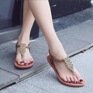 Image 2 - Ipomoea Dép Nữ Dép Mùa Hè 2020 Flat Người Phụ Nữ Bohemian Giày Sandal Nữ Nghỉ Mát Bãi Biển Sandales Femme SH041401