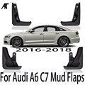 4 шт./компл. передние и задние брызговики для автомобиля крыло брызговиков для Audi A6 C7 2016 2017 2018 A6L автомобильные аксессуары