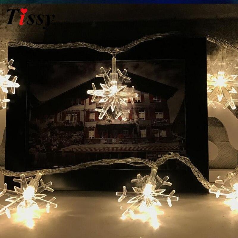 Christmas Snowflakes String Lights Led