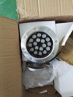 90 шт dc24v dmx512 rgb Светодиодный прожектор 18 w + 18 w Фонтан лампа dmx 4 кабеля 30 шт rgb съемный светодиодный водонепроницаемый фонарь